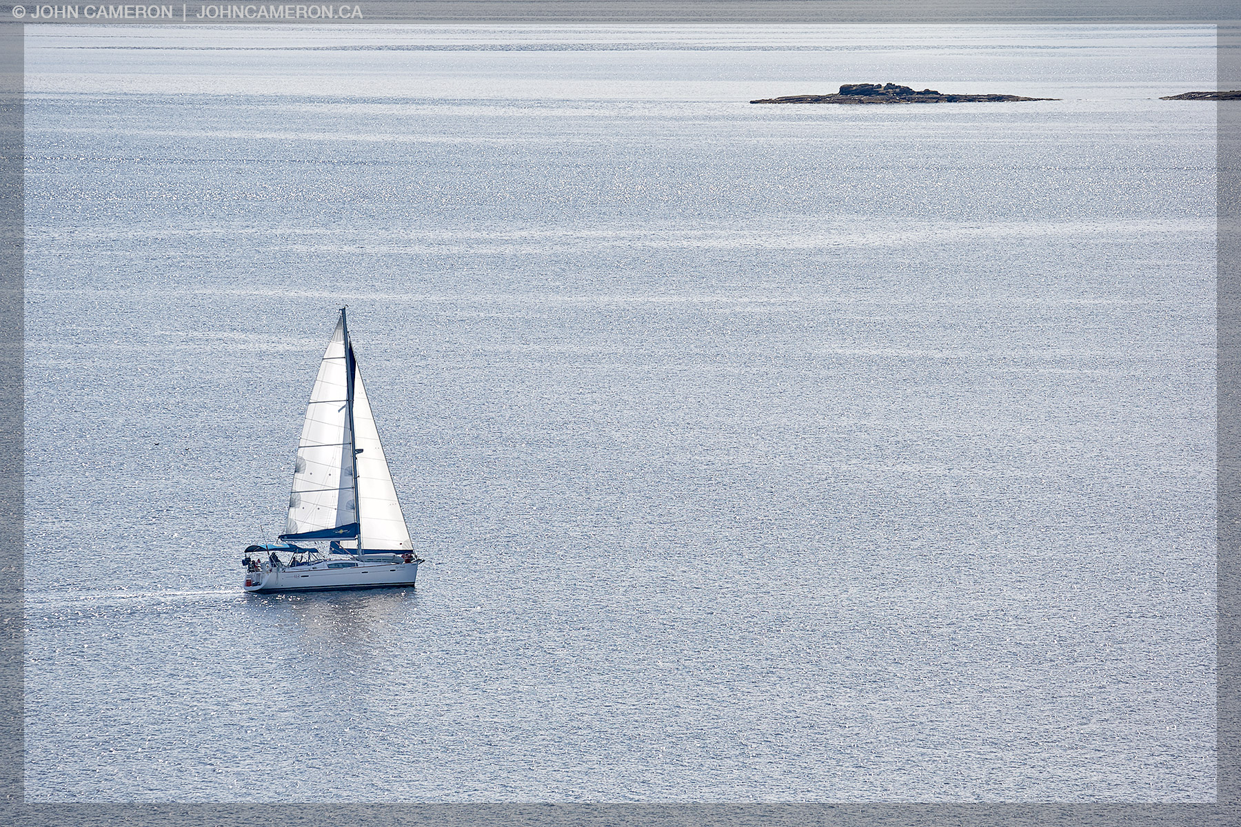 Sailing off Salt Spring Is;and's west side.
