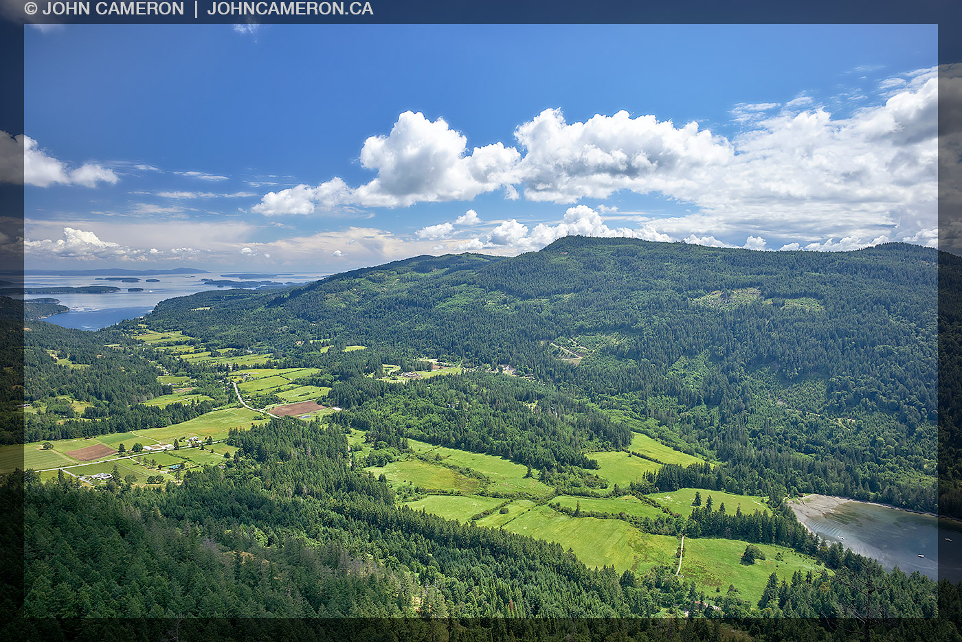 The Fulford Valley on Salt Spring Island
