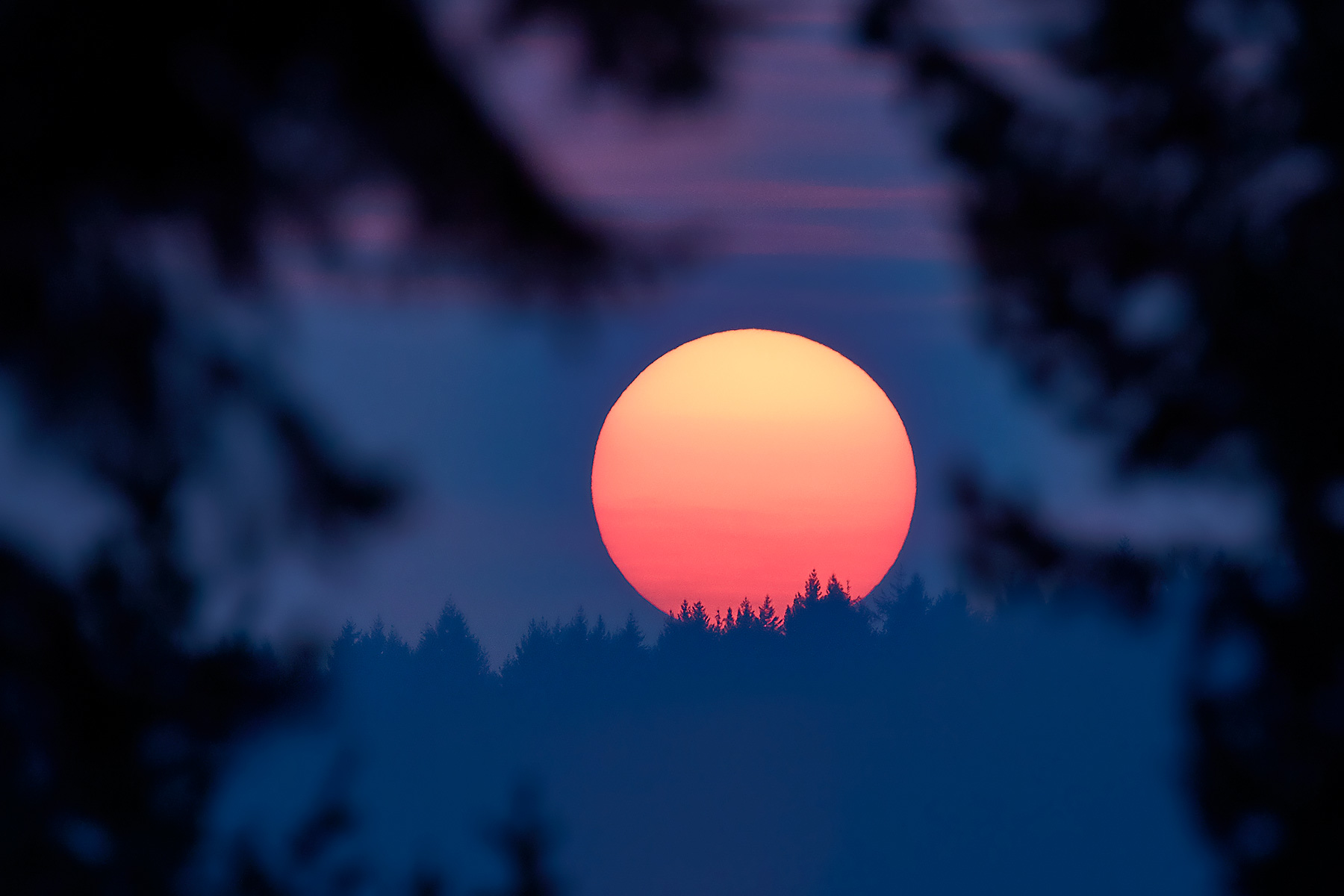 Wildfire Sunset on Salt Spring Island ©johncameron.ca