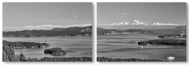 Gulf Islands View-Diptych ©johncameron.ca